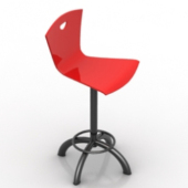 Red Bar Chair Free 3dMax Model