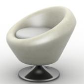 Modern White Sofa Free 3dMax Model