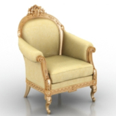 European Royal Chair Free 3dmax Model