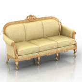European Royal Sofa Free 3dmax Model