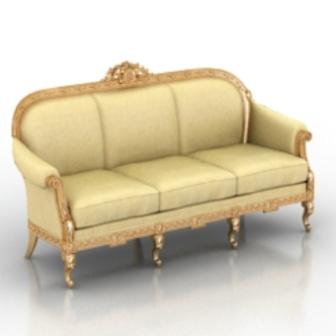 European Royal Sofa Free 3dmax Model