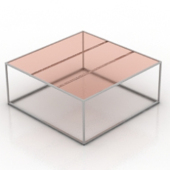Square Transparent Glass Table Free 3dMax Model