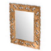Wooden Mirror Frame Free 3dmax Model
