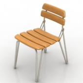 Single Wooden Chair Free 3dmax Model