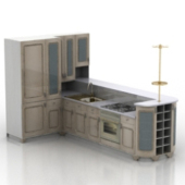 Kitchen Cabinet Furniture Free 3dmax Model