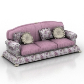 Noble Purple Sofa 3dmax Free 3dmax Model