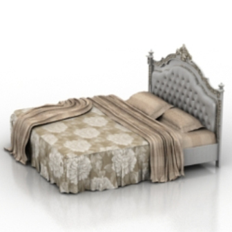European simmons bed free 3dmax model free download for 3ds max bed model