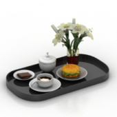 Elegant Tea Set Free 3dmax Model