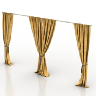 Home Curtains Free 3dmax Model