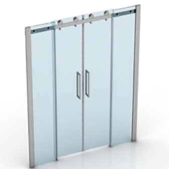 Glass Door Sliding Free 3dmax Model  sc 1 st  123Free3dModels.com : free door - pezcame.com