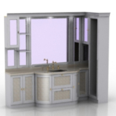 Sink Closet Cabinet Free 3dmax Model