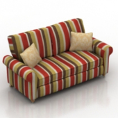 Colorful Sofa Free 3dmax Model
