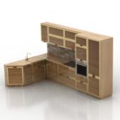 Wooden Corner Cabinet Free 3dMax Model