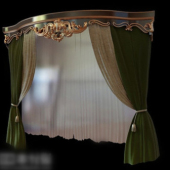 Free 3dmax Model Palace Curtains