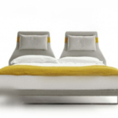 Free 3dmax Model Of Yellow Double Bed