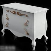 Free 3dmax Model White Bedside Cabinet