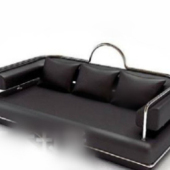 Black Leather Sofa Free 3dmax Model