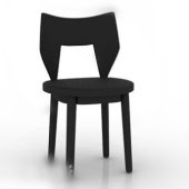 Dark Wood Modern Chair Free 3dmax Model