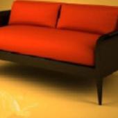 Orange Sofa Free 3dmax Model