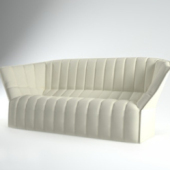 Milky White Smooth Sofa Free 3dmax Model