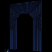 Blue Curtain Free 3dmax Model