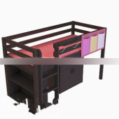 Wooden Bunk Bed Free 3dmax Model