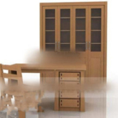 Wooden Library Furniture Combined
