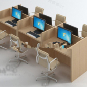 Office Desk with Computer Free 3dmax Model
