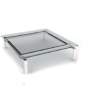 Transparent Glass Coffee Table Free 3dmax Model
