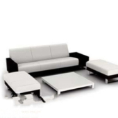 Modern Black White Sofa Free 3dmax Model