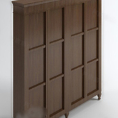 Brown Wooden Cabinet Free 3dmax Model