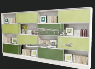 Refreshing Bookcase Free 3dmax Model Free Download - No2074