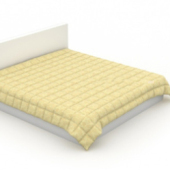 Standard Double Bed Free 3dmax Model