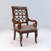 Retro Style Wooden Chair Free 3dmax Model