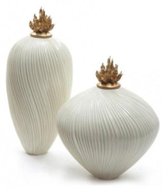 Oblique Carved Vase