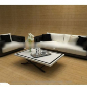 Black And White Sofa Free 3dmax Model