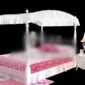 Little Princess Bed Free 3dmax Model