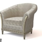 Silver Armchair Free 3dmax Model