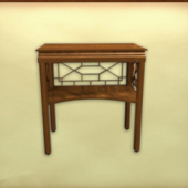 Retro Wooden Table Free 3dmax Model
