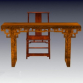 Chinese Antique Chairs Combined Free 3dmax Model