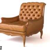European Leather Armchair