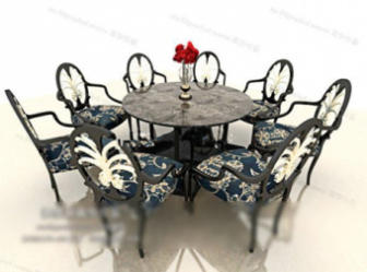 Dining Table Free 3dmax Model Portfolio