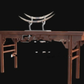 Chinese Table Free 3dmax Model