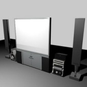 Electrical Theater Set 3d Max Model