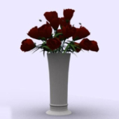 Indoor Rose Pot Free 3dmax Model