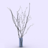 Interior Plant Branches Decoration Free 3dmax Model
