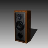 Wooden Speaker Free 3dMax Model