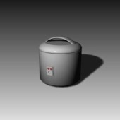 Rice Cooker Free 3dMax Model