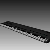 Organ Keyboard 3dMax Model