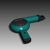 Hair Dryer Free 3d Max Model